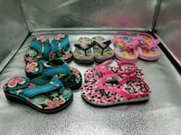 2 new, 3 used pairs of flip flops, size 9-10 Antelope, 95843