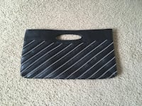 Black Faux Leather Zipper Purse Silver Spring