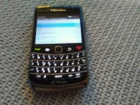 black and red qwerty phone