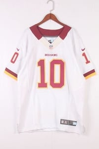 NIKE NFL REDSKINS GRIFFIN NUMBER 10 RUGBY JERSEY IN WHITE RED