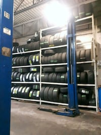 Single winter tire with installation .