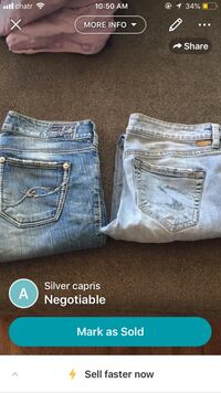 Two blue and gray denim bottoms Edmonton, T6L 2R8