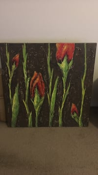 Red flowers painting La Quinta, 92253