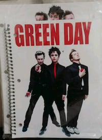 Green day folder and notebook