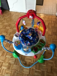 baby's white and blue jumperoo Toronto, M3N 2W1