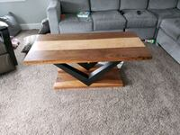 Solid black walnut and curly maple coffee table. Edmonton, T6W 3G5