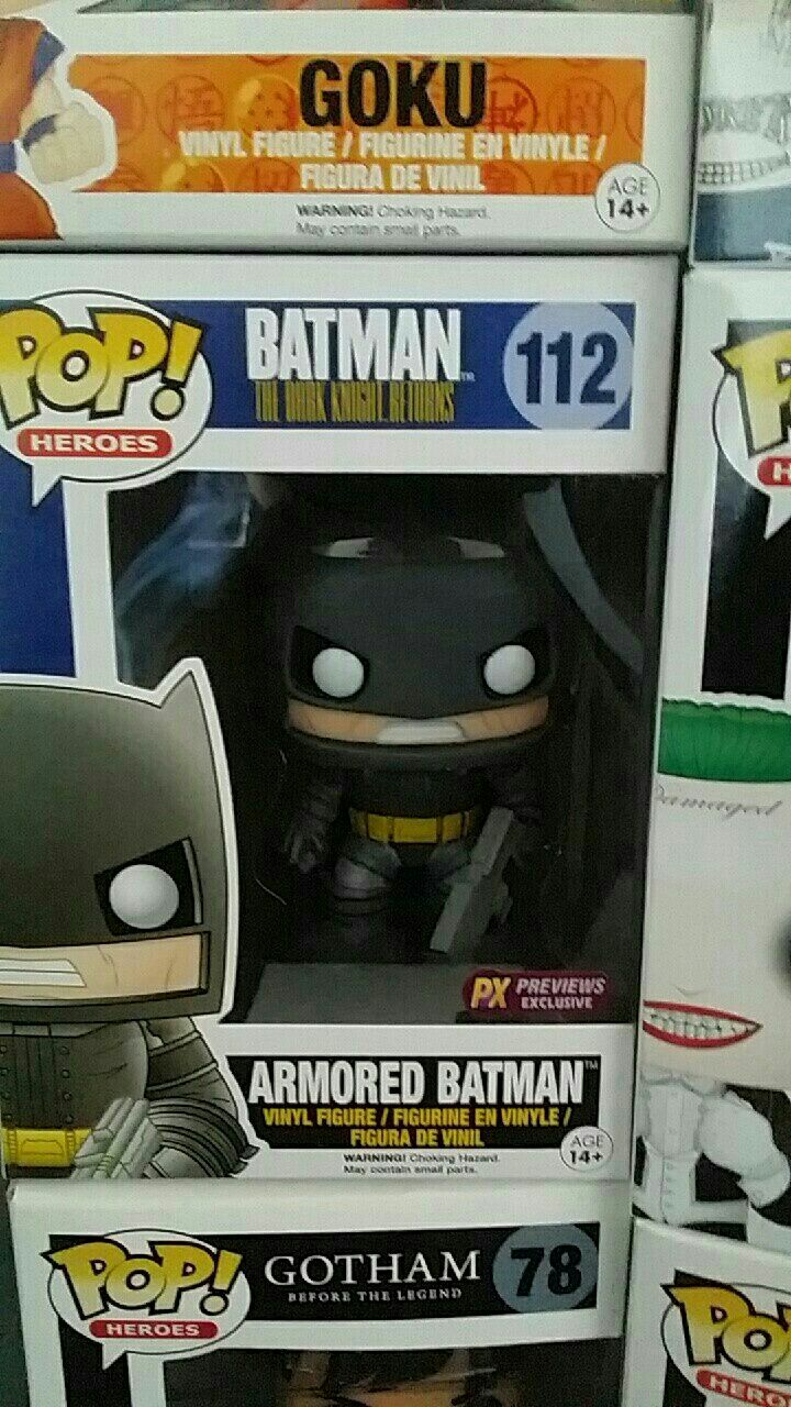 Pop Batman Armored Batman vinyl figure in pack