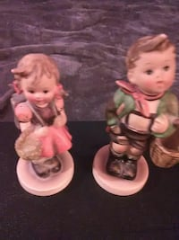 two girl and boy in camping figurines