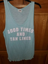 Pink tank top wore once size Lrg