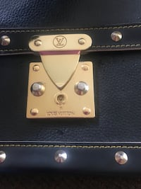 Black Leather LV Bag ( one of the brass hook is missing and one is loose)as is Annapolis, 21401