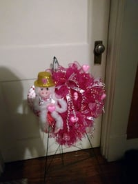 pink and white floral wreath Shreveport, 71104