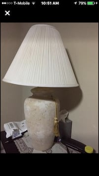 White and brown table lamp Falls Church, 22042