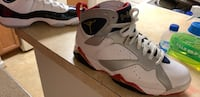 Pair of white-and-red air jordan shoes Portsmouth, 23707