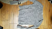 gray and black scoop neck sweater Washington