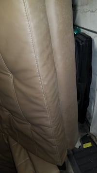 PRE OWNED FULL SIZE ADJUSTABLE LEATHER FUTON BRONX