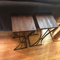 two brown wooden side tables Laurel, 20723
