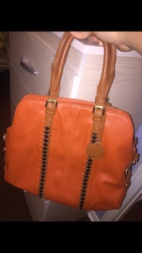 Women's orange leather tote bag Mississauga, L5A 2P6