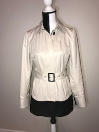 Banana Republic Belted Trench Coat (White/Black) Milton, L9T 4K1