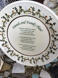 white and green floral ceramic plate Avon Park, 33825