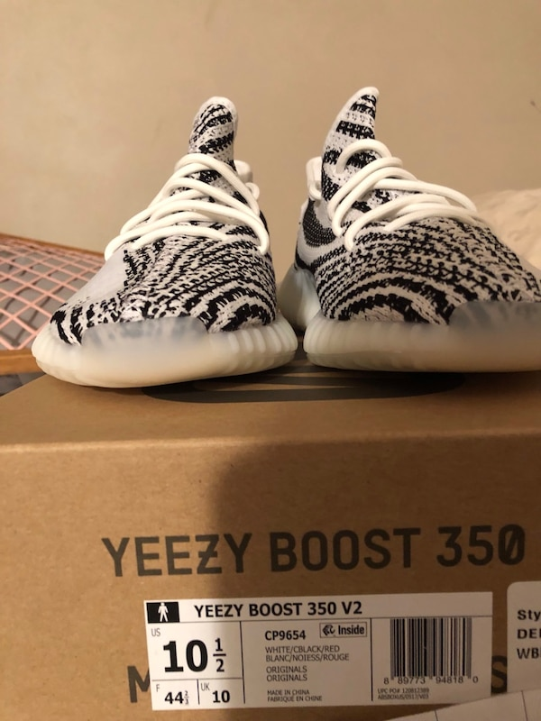 322ca15fd Used pair of Zebra Adidas Yeezy Boost 350 V2 with box for sale in Bay Shore  - letgo