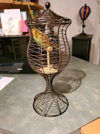 "FAKE bird Cage and FAKE bird (cage 12"" tall)"