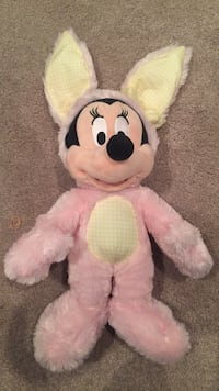 Minnie mouse in bunny costume