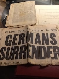 Ww2 news articles of German & Japanese surrender Calgary, T3L 1Z2