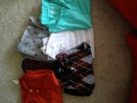 three assorted-color button-up shirts 48 km