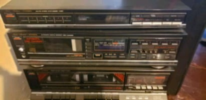 fisher vintage components-tape deck-CD player and
