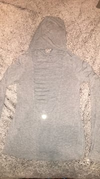 Forever 21 women's gray open back hoodie size small  Greenville, 27834