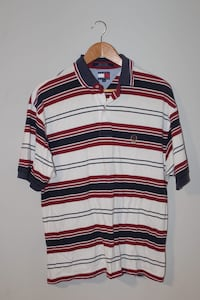 white, red, and black striped polo shirt Barrie, L4M 7G1