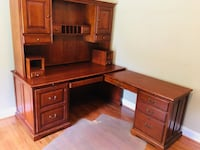brown wooden desk with hutch Winchester, 22602