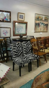two zebra-printed padded chairs Sweet Water, 36782