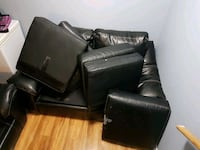 black leather sofa chair with ottoman Barrie, L4N 5Z7