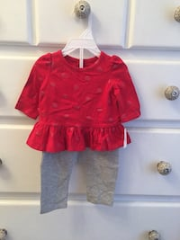 Baby Gap cute red shirt and gray pants. Size 0-3 months. Brand new! North Arlington, 07031