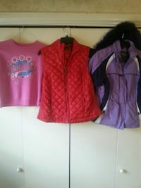 Jacket , vest and sweater Size 6-7