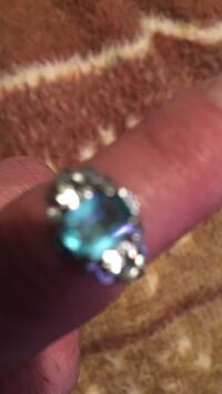 silver and blue gemstone ring Toronto
