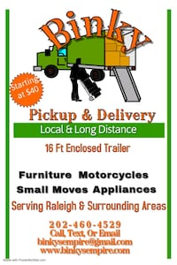 Furniture delivery Raleigh