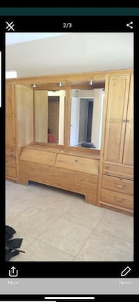 brown wooden cabinet with mirror Bakersfield, 93301