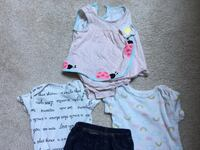 Baby summer and fall clothes - size 3 months - 2 onesies, jeans, dress with diaper cover Falls Church