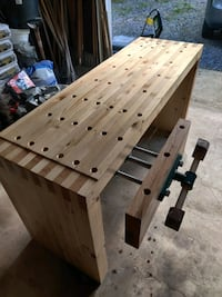 Heavy Duty Work bench for wood working, box jointed,dog holes