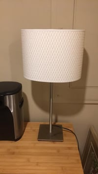 white and gray table lamp Burke, 22015