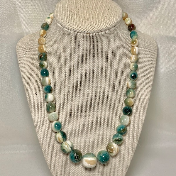 Genuine Tree Agate Beaded Necklace
