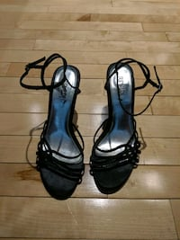Rinaldi high heel size 6.5 with sequins on straps Calgary, T2E 0B4