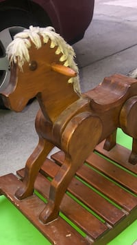 Kids Wooden Rocking Horse Chair Ride Toy.