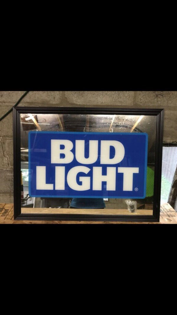 Bud Light Mirror Notre Dame Red Sox Man Cave Signs