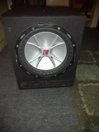 black and gray Kicker subwoofer speaker Long Beach, 90805