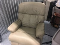 beige leather recliner sofa chair Sarasota, 34236