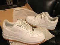 Nike air force 1 low white leather gum soles New York, 10030