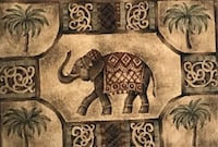 Elephant rug. In great condition, my mom had it handing in a wall. 5x7. Fenton, 63026